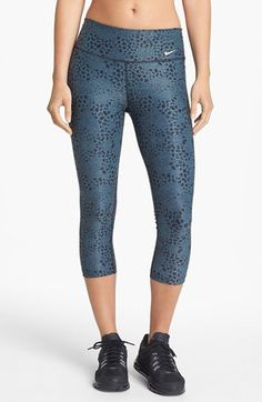 Love this print! Nike 'Legend 2.0' Capri workout Leggings in Armory Blue for yoga or the gym.