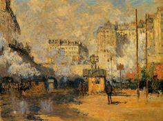 0251 Exterior of Saint-Lazare Station Sunlight Effect 1877