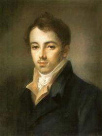 Portrait of M. A. Fonvizin - Alexey Venetsianov