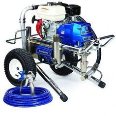 """The Graco 16W866 (Old# 248683) GMax II 3900 Lo-Boy Standard Series Gasoline Airless Sprayer comes complete with the Graco Contractor Spray Gun, RAC-X 517 Switch Tip and Guard and 50'x 1/4"""" BlueMax Airless Hose.With a 120 cc Honda engine and additional features for increased productivity, the GMAX II 3900 can handle up to two guns and is ideal for the professional contractor who sprays a wide variety of coatings.In addition, The Standard Series sprayer comes with these Only On A Graco…"""