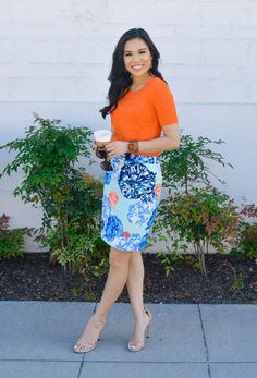 May Flowers :: Bright Colors With a Basketweave Skirt | Color & Chic