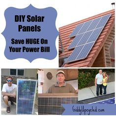 DIY Solar Panels - save HUGE on your electric bills by making your own solar panels!