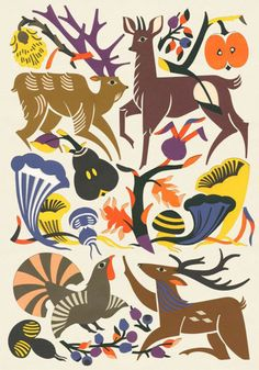 Love the colors and #animals on this #illustration by Petra Börner