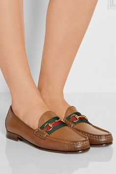 Gucci | Horsebit-detailed leather loafers | NET-A-PORTER.COM