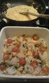 Foodie Sophie: Vislasagne met wit vis en garnalen