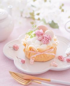 September 30 2019 at Fancy Desserts, Delicious Desserts, Dessert Recipes, Yummy Food, Kawaii Dessert, Beautiful Desserts, Cafe Food, Sweet Cakes, Aesthetic Food
