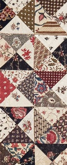 vintage quilts from 1800 | Cotton Patchwork Quilt, Dutch, ca. 1795-1800 by Sofia.Art