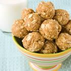 Healthy, oatmeal peanut butter snack. also, the best combination of foods.