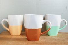 DIY Customized Mugs #Porcelaine150 paint