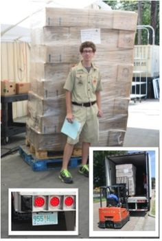 This is a great story about a Boy Scout who collected #glutenfree food for a food bank as his Eagle Scout project!