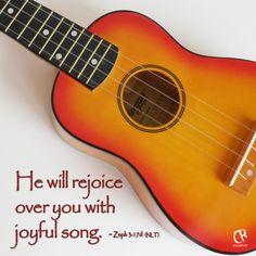 He will rejoice over you with joyful songs. - Zephaniah 3:17d #NLT #Bible verse | CrossRiverMedia.com