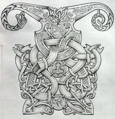 Viking and Oseberg influenced knotwork design by Tattoo-Design on DeviantArt