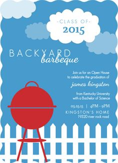 invitations ideas for barbecue backyard party - Google Search
