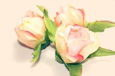 Silk Artificial Flowers  3 Shabby Chic Peony Ball by simplyserra, $5.25