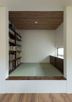 ウォールナットとガラスの家 | 注文住宅なら建築設計事務所 フリーダムアーキテクツデザイン Home Living Room, Living Spaces, Home Office Design, House Design, Tatami Room, Japanese Interior Design, Walnut Floors, Miniature Houses, Simple House