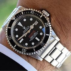 Rolex Double Red Sea-Dweller. Right here. #wristporn #rolexero credit @bansc00…