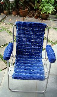 I ALSO ... CROCHETO: chairs lining Crochet with Trapilhos