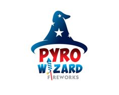 Pyro Wizard Fireworks logo design contest - logos by PonetzGraphics