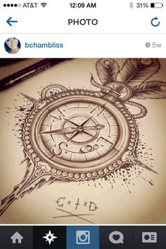 Compass tattoo, sooo tempted to get something similar!