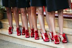 Red shoes for the bridesmaids. I swear, I love everything about Abby's style.