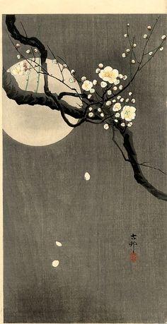 Koson Ohara Cerisier-lune