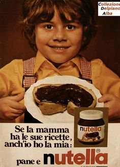 """Vintage advertisement for Nutella 