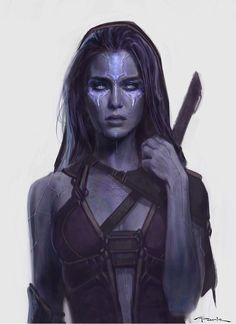 """Andy Park on Twitter: """"Here's an early #Gamora design I did for @Guardians Before she had to be green:"""""""