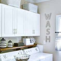 These 5 DIY laundry rooms are very different but all gorgeous in their own way. Each has features that will make doing the laundry easier... & maybe fun!