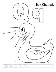 letter q coloring page for preschool