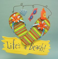 A few days ago Misty wrote an article about creative summertime flip-flops. Just like Misty, I love flip-flops. I have at least a dozen pairs and I wear Beach Crafts, Summer Crafts, Summer Fun, Diy Crafts, Summer Ideas, Summer Beach, Flip Flop Craft, Decorating Flip Flops, Craft Projects