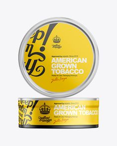 1.2oz Tobacco Can Mockup. Preview