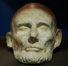 Lincoln's Life mask, 1865 shortly before his death.