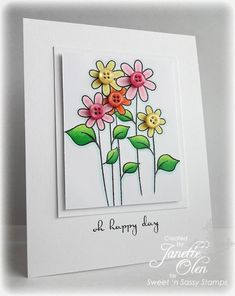 Sweet 'n Sassy Stamps used:  Happy Place and Long Stem Silhouettes