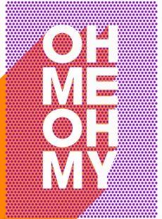 Oh MY #print #typo Print Club