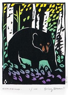 Exploring | Wild Neighborhood - Woodblock by Betsy Bowen