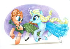 Frozen Ponies - ECCC request for a little girl who loved the earlier one I did :)