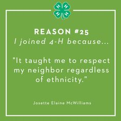 Reason 25: To learn respect for others.