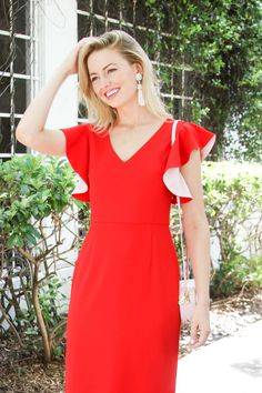 The Camilyn Beth 'Catalina' Dress in Red | Red Hot Summer