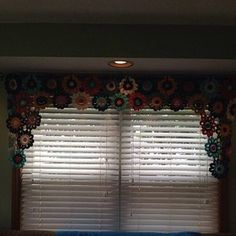 Items similar to Flower Valance- Flower Curtains- Crochet Curtains- Kitchen Curtains- Colorful Curtains- Custom Curtains- Window Valance on Etsy Curtains Pictures, Flower Curtain, Kitchen Valances, Crochet Curtains, Custom Curtains, Colorful Curtains, Color Pallets, Window Curtains, Home Decor Items