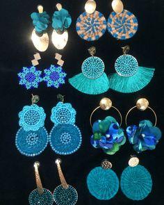 Jewelry For Her, Ear Jewelry, Trendy Jewelry, Jewelry Crafts, Beaded Jewelry, Jewelery, Diy Big Earrings, Unique Earrings, Earrings Handmade