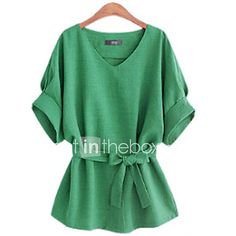 Women's V Neck ½ Length Sleeve Shirt - USD $8.99 ! HOT Product! A hot product at an incredible low price is now on sale! Come check it out along with other items like this. Get great discounts, earn Rewards and much more each time you shop with us!