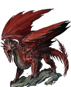 Young Red Dragon by BenWootten.deviantart.com on @deviantART
