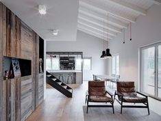 A double –height loft, an intervention where works have already started, a young family and their home renovation.This project is. Small Space Living, Living Spaces, Barn Conversion Interiors, Iron Pergola, Loft, Interior Decorating, Interior Design, Chalet Interior, Apartment Furniture