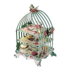Cake stand  vintage cake display  whimsical theme by evescrafts