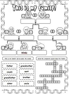 Look and complete the family tree.                                                                                                                                                                                 Más