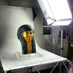 Shooting an ancient egyptian mask -2 #culturalheritage #egypt #ancient #archaeology #photography #mask