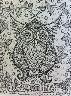 OWLS Coloring Book for you to have some fun and be the artist Original Cute Owl drawings that you color. $12.00, via Etsy.