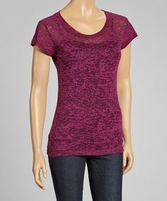Love this Purple Burnout Tee by Sweet Girl on #zulily! #zulilyfinds