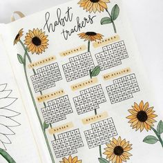 12 Bullet Journal Hacks That You Need To See! - Nikola Kosterman 23 Stunning Sunflower Themed Bullet Journal Layout and Spread Ideas Bullet Journal School, Bullet Journal Tracker, Bullet Journal Inspo, Bullet Journal Aesthetic, Bullet Journal Notebook, Bullet Journal Ideas Pages, March Bullet Journal, Bullet Journal Homework, Bullet Journal Netflix