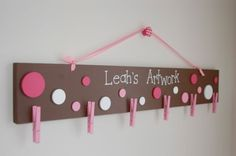 Im so doing this in the kids playroom! Although this example is for a girl I want to do it for my boys!
